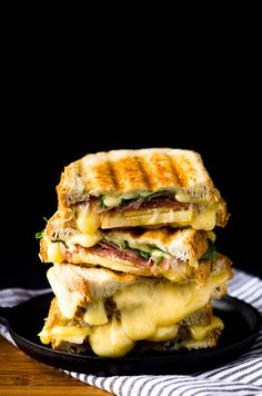 A Very Gouda Grilled Cheese - With prosciutto, apple, arugula, and jam.