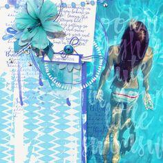 Sweet Summer Collection Biggie digital scrapbooking summer kit by Brandy Murry for www.scrapgirls.com.