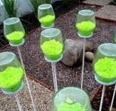 maybe i should use glow in the dark paint for the small stones inside the jar and place the jars along the backyard