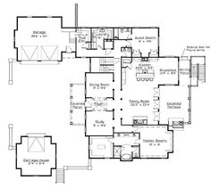 Open floor plan modern farmhouse modern southern house for Windsong project floor plan