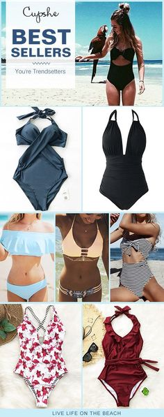 Check the greatest swimsuits from Cupshe! Padded cups, fresh designs and smooth fabric will keep you feeling cool, comfortable and confident all day long. Shop now~