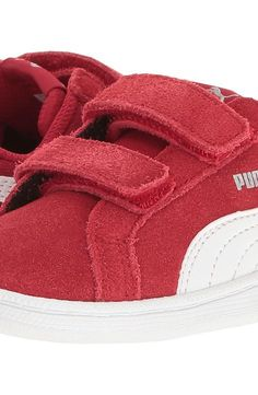 Puma Kids Smash Fun SD V INF (Toddler) (Barbados Cherry/Puma White) Kids Shoes - Puma Kids, Smash Fun SD V INF (Toddler), 36209007-600, Footwear Closed Hook and Loop, Hook and Loop, Closed Footwear, Footwear, Shoes, Gift - Outfit Ideas And Street Style 2017