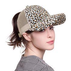 df44124a64ac Leopard Ponytail Women Baseball Cap