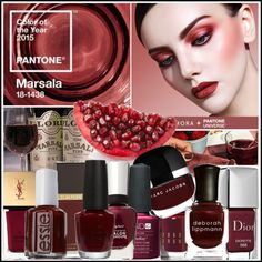 """""""2015 Nail Trend: Pantone's Marsala"""" by manicurelover on Polyvore"""