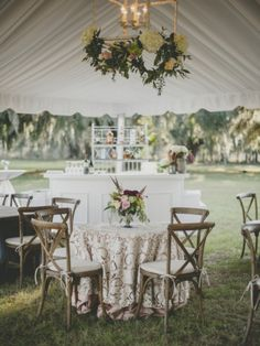 southern tent reception with lace and exposed wood #weddingreception #rusticdecor #weddingchicks http://bit.ly/QhAwNZ