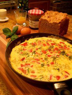 Fresh Tomato, Herbs and Egg Frittata | Lake Lure Cottage Kitchen