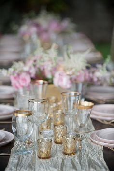 Vintage gold rimmed glasses by Set Maui wedding inspiration