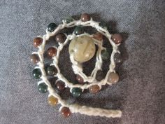 Hippie Chic Crochet Beaded Bracelet  Down to by KnittedFiddle, $15.00