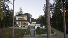 Located in the archipelago near city of Helsinki, Finland, this beautiful modern house, designed by architect Aleksi Niemelä shows an interesting story between the architecture and nature. The grey wooden cladding of the house makes it fit perfectly into its surrounding nature environment while the great windows multiply the amount of natural light inside the house. The house is listed at Etuovi and the realtor for the house is Lea Jakama. The main house with a large pool terrace area…
