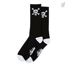 Stussy Skull Crew Socks - http://www.overkillshop.com/de/product_info/info/11796/