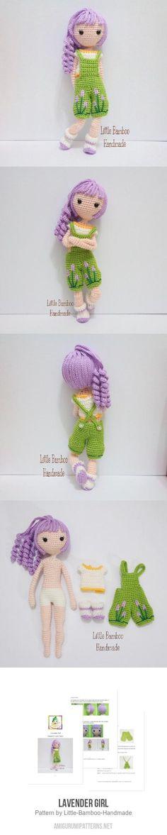 Lavender Girl amigurumi pattern