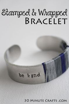 DIY Stamped and Wrapped Bracelet