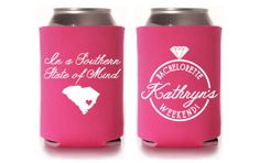 Love the southern state of mind !!!Custom Bachelorette Koozie  In a Southern State of by PaperLeigh,