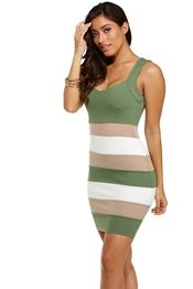 Olive Exclusive Bodycon Dress
