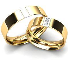 Combinatie de aur galben cu aur alb.