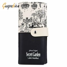 7fc661a574f6 Guapabien Summer Casual Clutches Wallets For Women PU Leather Purse Female  Print Letter Wallet Candy Colors Snap Fastener Bags