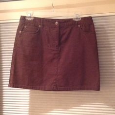 Brown J Crew Corduroy Mini Skirt Brown J. Crew Factory corduroy mini skirt, approximately 15 1/2 inches total length. Great paired with tights and boots or on its own. Material:  100% cotton J. Crew Skirts Mini