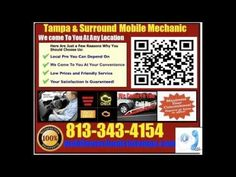 The Best Mobile Auto Mechanic In Clearwater, Florida Car Repair Service shop and pre purchase inspection Call Car Repair Service, Auto Service, Vehicle Repair, Mobile Mechanic, Auto Mechanic, Zephyrhills Florida, Clearwater Florida, Carson Daly, Tarpon Springs