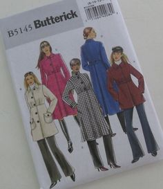 BUTTERICK PATTERN B5145 winter and fall coat by ReInventedBoutique