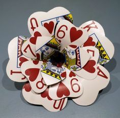 Make Playing Card Flowers - Dollar Store Crafts