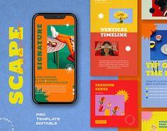 Graphisches Design, Layout Design, Social Media Template, Social Media Design, Case Study Design, Instagram Story Ideas, Instagram Posts, Site Web, Motion Design