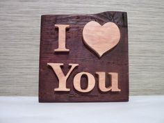 Wooden I LOVE YOU wall sign, wooden wedding decor, wooden heart, wooden I love you, wooden sign. Valentine day gift, wooden ornament.