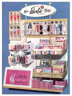 This is how Barbie was presented at Woolworth's many years ago.