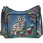 ANNA by Anuschka Hand Painted Leather Large Organizer Leather Handbag NEW