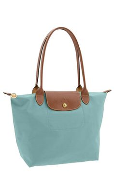 Longchamp Le Pilage...love the spring colors.  Turquoise or cyclamen...what will it be?!?!