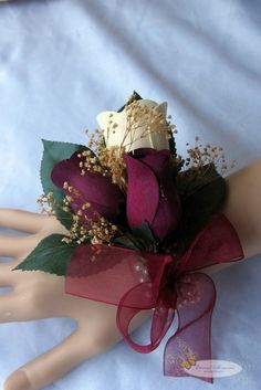wooden rose corsage