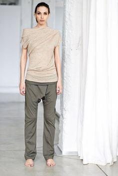 Arya Asymmetrical Short Sleeved Top/ Yoga Top/ Beige by AryaSense