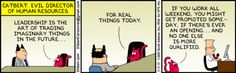Leadership strategy with Catbert (Dilbert 3/31/10)