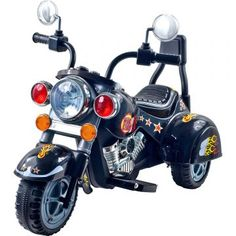3 Wheel Chopper Trike Motorcycle For Kids Battery Ed Ride On Toy By Lil Rider Toys Boys And S Toddler Up Black