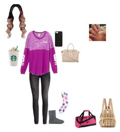 """""""2 week trip with my loves☺️✨"""" by mackenzieandsierra ❤ liked on Polyvore featuring H&M, UGG Australia, Givenchy, Uncommon, HUF, MCM and NIKE"""