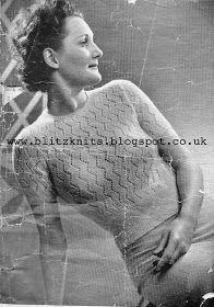 The Vintage Pattern Files: 1930's Knitting - Murospun No.244 Women's Sweater