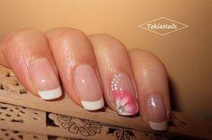 romantic french by TokiaNails - Nail Art Gallery nailartgallery.nailsmag.com by Nails Magazine www.nailsmag.com #nailart