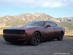 This is a really aggressive looking custom Dodge Charger.