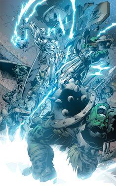 Hulk vs Silver Surfer