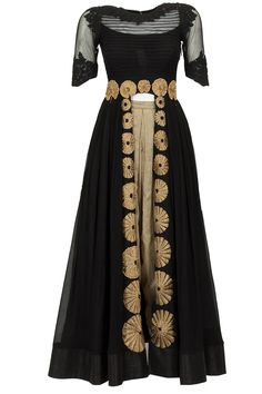 Black textured kurta with dhoti pants available only at Pernia's Pop-Up Shop.
