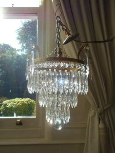 French Vintage 3 Tier Waterfall Chandelier