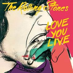 """Andy Warhol designed The Rolling Stones """"Love You Live"""" record sleeve for their double live album featuring performances from the previous three years. Warhol was apparently dismayed to see that Jagger had added pencil smears to his design. #RevolverGallery #AndyWarhol"""