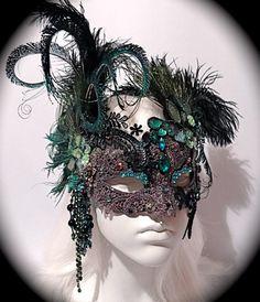Peacock Mask Venetian Masquerade Ball Masks by Marcellefinery