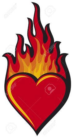 heart on fire tattoo design tattoo you pinterest fire tattoo