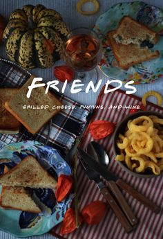 A Thanksgiving feast of grilled cheese sandwiches and Funyuns inspired by Friends.