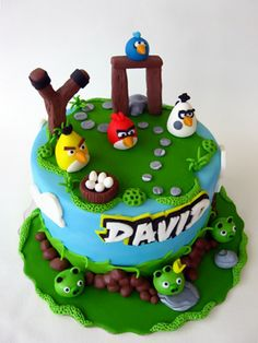 Angry Birds Cake on Cake Central Torta Angry Birds, Cumpleaños Angry Birds, Angry Birds Birthday Cake, Bird Birthday Parties, 5th Birthday, Birthday Cakes, Birthday Ideas, Bird Cakes, Cupcake Cakes