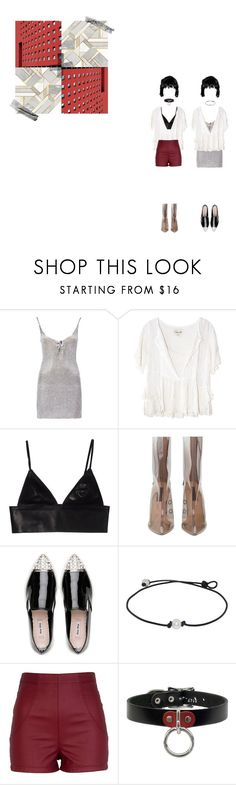 """""""they call you cry baby"""" by ulzzanunni ❤ liked on Polyvore featuring Boohoo, Cleobella, T By Alexander Wang, Miu Miu and River Island"""