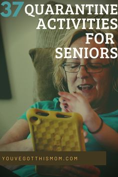Are you needing an activity to do during this stay-at-home order? Is your parent or grandparent tempted to leave the house? Here are 37 activities to do while in quarantine that seniors can do by themselves or with grandkids over facetime.