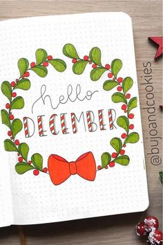 If you're setting up a new theme for the month, you need to check out these super festive December monthly cover ideas for inspiration to make it perfect! Bullet Journal Christmas, December Bullet Journal, Bullet Journal Notebook, Bullet Journal Aesthetic, Bullet Journal School, Bullet Journal Cover Ideas, Bullet Journal Ideas Pages, Bullet Journal Layout, Journal Covers