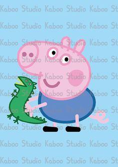 Instant Preuzimanje karikatura Peppa Pig i obitelj by KabooStudio