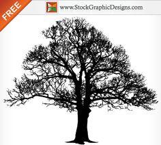 Free Tree Silhouette Vector Graphics